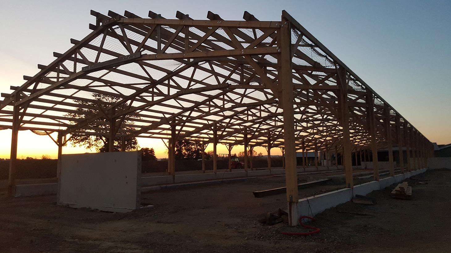 Réalisation de charpente pour bâtiments agricoles