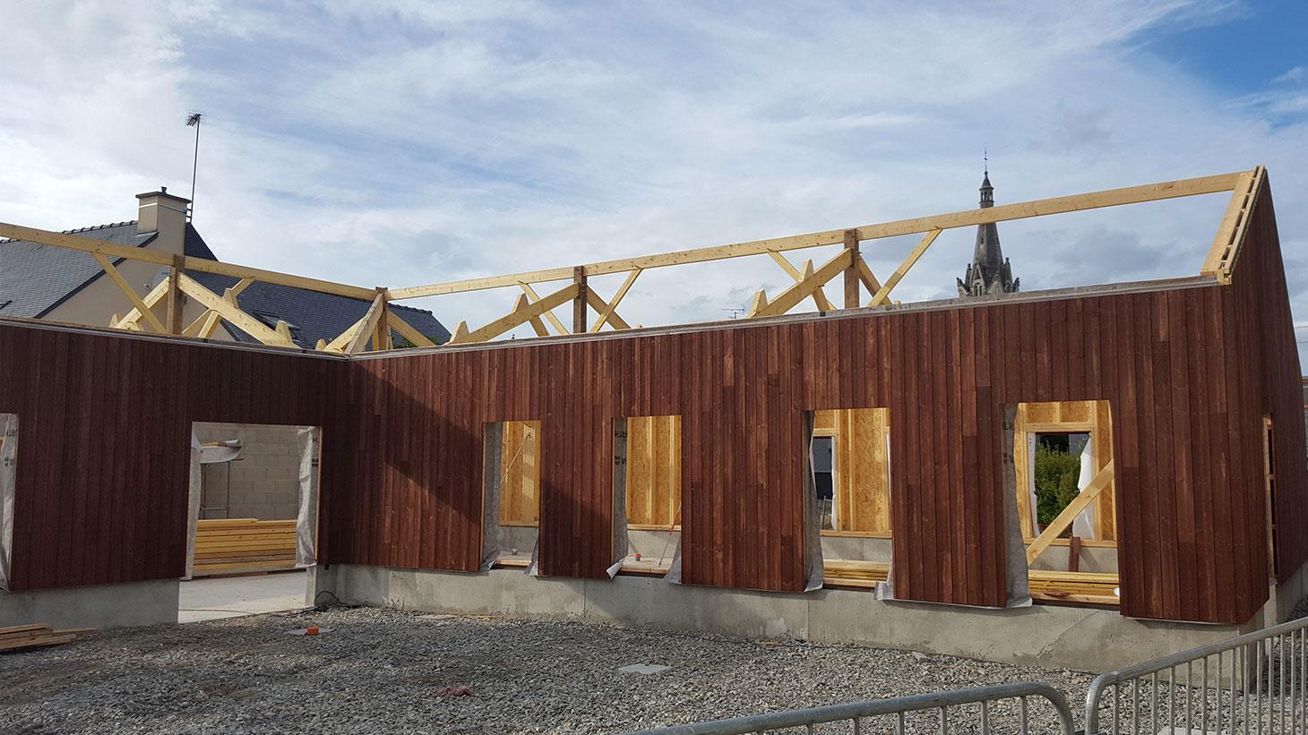 Réalisation de bâtiment en ossature bois